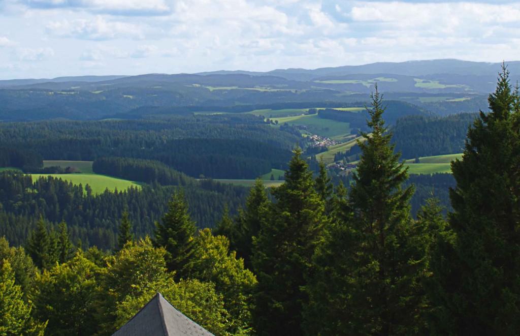Wunderschöne Aussicht über den Schwarzwald